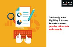 Our Immigration Eligibility & Career Reports are most popular, affordable and valuable. #YAxisCareerCounselling
