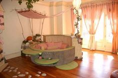"""""""Country Dream"""" bedroom. Vines, fairy doors, tree stumps... Layla would LOVE this!"""