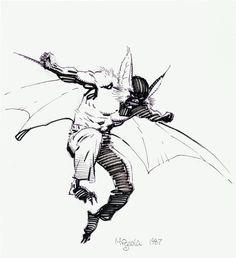 Man-Bat by Mike Mignola