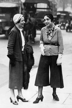 Elsa Schiaparelli (right) (1890–1973) was an Italian fashion designer