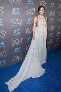 50f4a80b325 Critic s Choice Awards 2015 - Keira Knightley de Delpozo Red Carpet Gowns