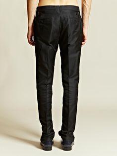 Lanvin Men's Velvet Pleated Band Evening Trousers | LN-CC