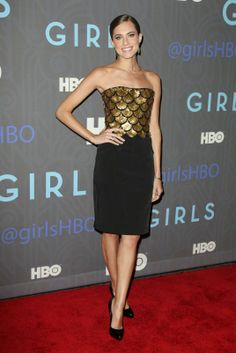 I love the dress that allison williams is wearing!