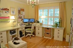 Hometalk :: Building a Pottery Barn Inspired Home Office