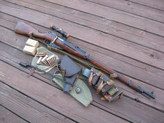 Mosin-Nagant 91/30 rifle in 7.62mm x 54R, love my 3 mosins.
