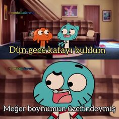 Gumball and Darwin Komik Sahneler Funy Memes, Stupid Funny Memes, Funny Quotes, Stupid Cat, Funny Messages, Disney Memes, Just Smile, Gumball, Darwin