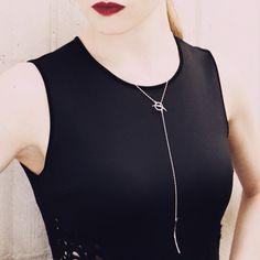 Janesko Curve Toggle necklace at Kemper Museum. #toggle #lariat #necklace #jewelry #necklace #janesko #curve