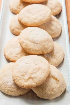Soft and Chewy Lemon Cookies ~ These soft and chewy lemon cookies are for real lemon lovers only! The secret is three different types of lemon flavoring in the dough: lemon zest, lemon juice and lemon extract. ~ SimplyRecipes.com