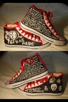 Chemical Romance Black Parade shoes.