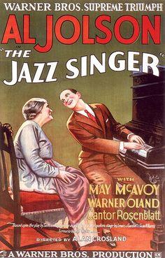 """El Cine y el Jazz protagonizan en paralelo, una difícil historia de amor. Si bien es cierto que la primera película sonora de la historia del cine, tuvo como protagonista directo al jazz en el documental """"The  Jazz Singer"""", (1927) no es menos cierto, que aquello no fue en absoluto premonitorio de lo que vendría después.   fuente http://www.apoloybaco.com/cinejazzprincipal.htm"""