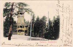 Ensimmäinen Pyynikin näkötorni, ns. Ilomäen näkötorni Tampere-kortissa 13.9.1902.