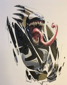 Marvel: this would make an amazing tattoo Venom Comics, Marvel Venom, Marvel Dc Comics, Marvel Heroes, Marvel Characters, Marvel Avengers, Fictional Characters, Spiderman Art, Amazing Spiderman