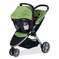 Britax 2017 B-Agile/B-Safe 35 Travel System-Meadow, Meadow Britax Double Stroller, Double Stroller Reviews, Double Strollers, Baby Equipment, No Equipment Workout, Britax B Agile, Baby Girl Strollers, City Mini Gt, Best Rated