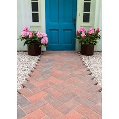 Find Stylish Stone Malvern Drive Paving - Brindle at Homebase. Visit your local store for the widest range of garden & outdoor products. Garden Floor, Garden Paving, Garden Table, Red Brick Paving, Brick Path, Patio Blocks, Patio Slabs, Front Path, Paving Ideas