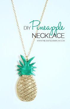 DIY Pineapple Necklace thecraftedsparrow.com