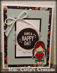 Happy Day card by Carrie Simonds.  CTMH Swan Lake
