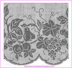 Risultati immagini per miria croches e pinturas Filet Crochet Charts, Crochet Doily Patterns, Crochet Borders, Thread Crochet, Crochet Doilies, Crochet Fall, Crochet Home, Knit Crochet, Fillet Crochet