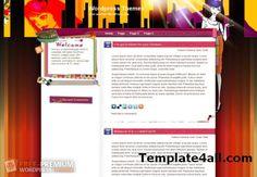 Free Anime Fashion Blog Wordpress Theme Template Design download! Awesome Free Wordpress themes!