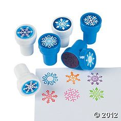 For the Party Bags - Snowflake Stampers