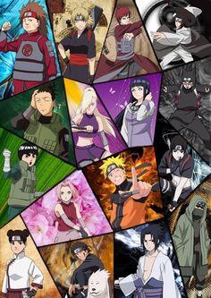 Main characters in Naruto.