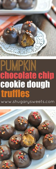 The classic Chocolate Chip Cookie Dough Truffle just got a touch of Pumpkin! 'Tis the season, friends!!