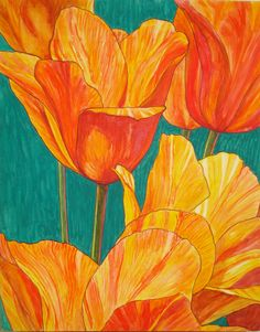 El Nino tulips... an Art in Bloom top 20 in 2014(Tulip Time poster competition, Holland, MI)