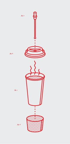 design Michael Nÿkamp (Designspiration - Everyone RSS Feed) Simple infographic that dissects the different layers of a coffee cup.Simple infographic that dissects the different layers of a coffee cup. Icon Design, Graphisches Design, Layout Design, Design Ideas, Illustration Plate, Graphic Design Illustration, Creative Illustration, Coffee Illustration, Illustration Styles