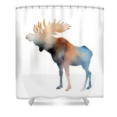Blue Moose Shower Curtain For Sale By Sean Parnell