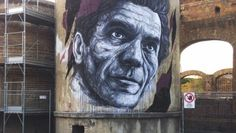 Frederico Draw – street art tribute to Pier Paolo Pasolini