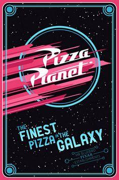 Pizza Planet ~ Toy Story ~ Minimal Movie Poster by Mario Graciotti ~ Pixar Establishments Film Pixar, Pixar Movies, Disneyland, Disney Love, Disney Magic, Pizza Planet, Business Poster, Poster S, Pizza Poster