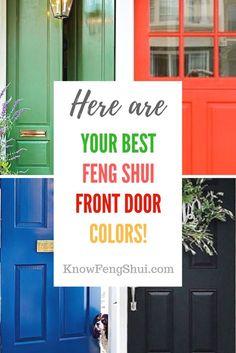 best feng shui colours for your west facing front door doors
