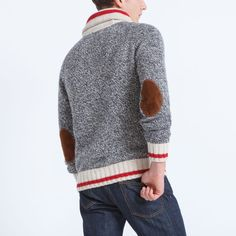 Men's Roots Cabin Shawl Pullover - F/W 2015/2016, style 01050326, Grey Oat Mix