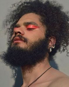 """marimopet: """"marimopet: """"CAKED 01 """" i got a few questions about this look and it's basically pink lipstick with vaseline on top. Male Makeup, Beauty Makeup, Hair Beauty, Guys Makeup, Pretty People, Beautiful People, Model Tips, Poses, Drawing People"""