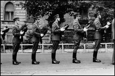 The Guard of Honor of the Hungarian People's Army preparing to lay wreaths at a military ceremony in Budapest, Leonard Freed, Honor Guard, Civil Rights Movement, The New School, Magnum Photos, Working Class, Cover Photos, Documentaries, Military