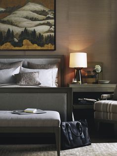 Barbara Barry Upholstered Queen Bed ; Baker Furniture