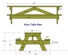 Picnic Table and other projects