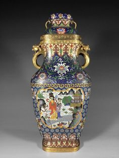Chinese Antique Cloisonne Bottle