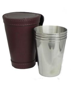 Cherry Tree Country Clothing - 4oz Cups with Leather Case, £29.95 (http://www.cherrytreecountryclothing.com/4oz-cups-with-leather-case/)