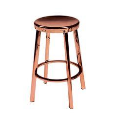 Tabouret de bar cuivre - Bross sur CDC Design