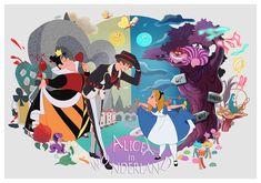 Alice in Wonderland Disney Pixar, Disney Animation, Disney Au, Disney Villains Art, Arte Disney, Disney And More, Disney Memes, Disney Fan Art, Disney And Dreamworks