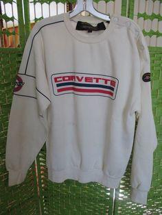 SUPER COOL VINTAGE 70s or 80s CHEVY CORVETTE SWEATSHIRT by Style Auto size Large  #chevy #corvette #racecar