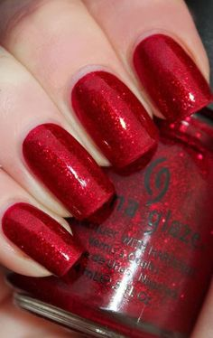 China Glaze Ruby Pumps : This is one of the best colours from China Glaze. You must try this one out. It is set in perfect lustrous red colour. It contains lots of glitters and is perfect for a date night, clubbing or party. Will you try this one?