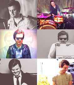 So talented and handsome! Screamo Bands, Jon Walker, Spencer Smith, Death Of A Bachelor, James Smith, Middle Aged Man, Don't Panic, I Miss Him, Brendon Urie