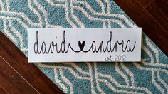 Connected Hearts Name Wood Sign | Name Wood Sign | Mantle Decor | Home Decor | Wedding Gift | Anniversary Gift | Mantle Decor | Wood Sign by DanielleGraceDesign1 on Etsy