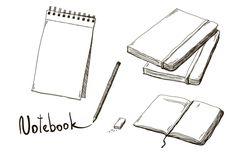 Set of hand drawn notebooks by Lina_Lisichka on @creativemarket