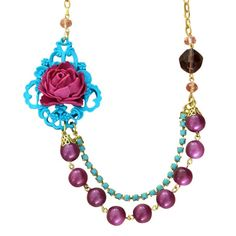 The Graceful Necklace in Violet/Turquoise