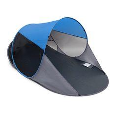 Relaxdays Pop-Up Strandmuschel UV 80 in verschiedenen Farben selbstaufstellendes Strandzelt für Urlaub und Freizeit…