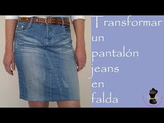 Transformare un pantalone jeans in una gonna Denim Pencil Skirt, Denim Skirt, Old Jeans, Denim Jeans, T Shirt Sewing Pattern, Stitching Dresses, Diy Clothes Refashion, Diy Vetement, Straight Skirt