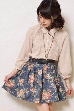 Image via We Heart It #dress #fashion #floral #girl #peterpancollar #sweet #ulzzang #ulzzanggirl