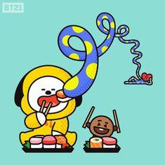 by BTS Tata shooky chimmy Bts Chibi, Yoonmin, Bts Memes, Kdrama, Bt 21, Les Bts, Taehyung, Namjoon, Line Friends